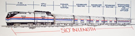 AMTRAK EXHIBIT TRAIN SKETCH
