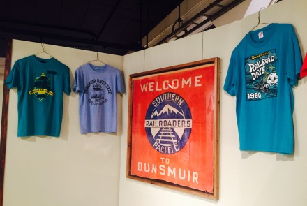 RR Days T-Shirts Display at Dunsmuir Museum